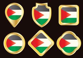 Gold Badge Gaza Strip Vector