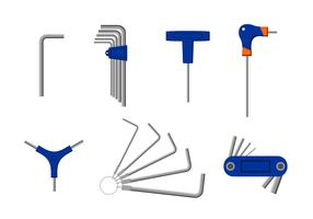 Various Allen Key Free Vector