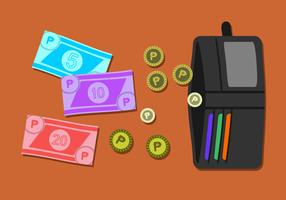 Pengar I Min Plånbok Gratis Vector