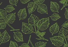 Poison Ivy Outline Seamless Pattern Vector