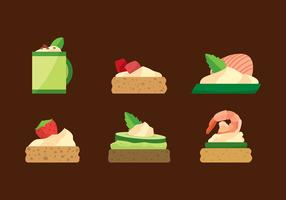 Canapes Flat Free Vector