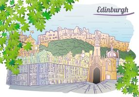 Edinburgh bakgrunds illustration