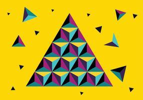Färgglada Prisma Bakgrund Vector