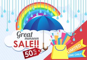Great Mansoon Sale! vector
