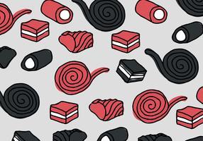 Zoethout rood en zwart patroon