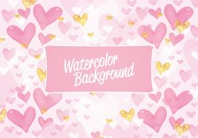 Vector Valentine's Day Watercolor Pattern