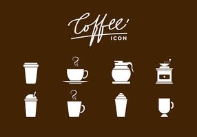 Siluetas Coffee Icon Free Vector