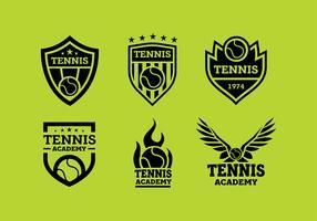 Logo de tennis vecteur libre