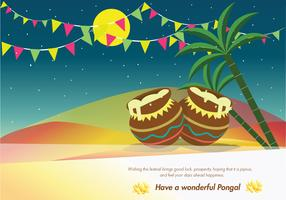Pongal Greeting Card Vector