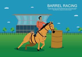 Free Barrel Racing Illustration