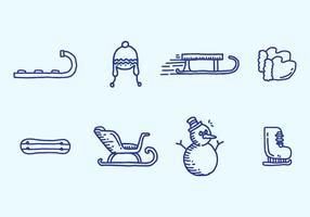 Toboggan Icon Set