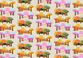 Baobab Trees Africa Pattern Vector