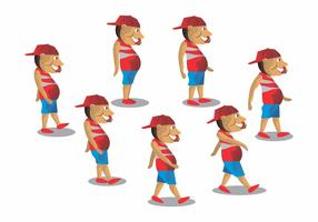 Caminhada Cycle Boy Vector Design