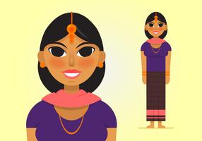 Vector-indian-woman-2