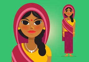 Vector-indian-woman-3