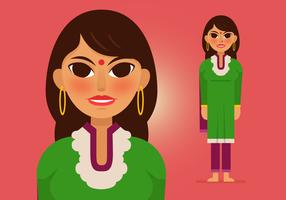 Vector-indian-woman-4