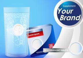 Effervescent Supplement Tablet Advertise