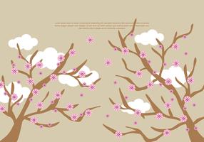 vetor de flor de pêssego