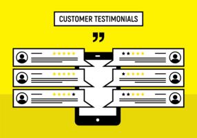 Kundenempfehlungs-Vektor