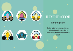 Flat Style Respirator Chemical Gas Mask vector