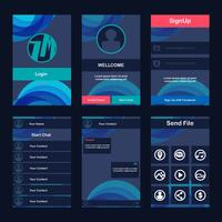 mobile app gui vector