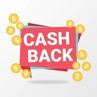 Bargeld zurück isoliertes Zeichen