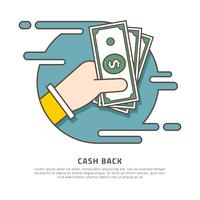 Cash Back Vector Illustration