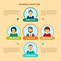 Geschäftsstruktur Vektor