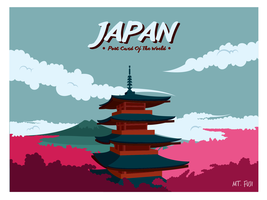 Japan briefkaart Vector