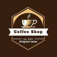 Vecteur de café Shop Logo