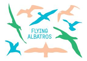 Silhouette Albatros Vektoren