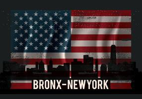 vintage bronx illustration