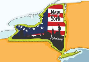 New York Map  vector