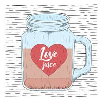 Free Hand Drawn Vector Love Jar