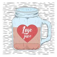 Gratis Hand getrokken Vector Love Jar