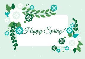 Gratis lente seizoen vector achtergrond