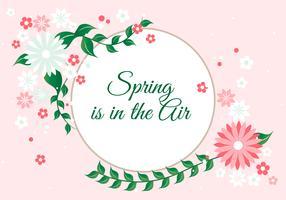 Fundo gratuito do vetor da estação da primavera