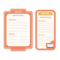 Tarjetas de recetas