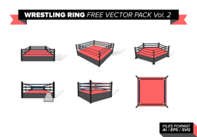 Worstelen Ring Gratis Vector Pack