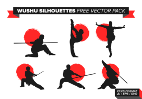 Wushu Silhouettes Free Vector Pack