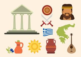 Vlakke Griekenland Vectoren