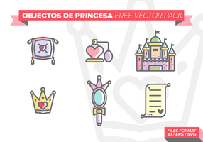 Pack de vectores gratis de castillos de princesa