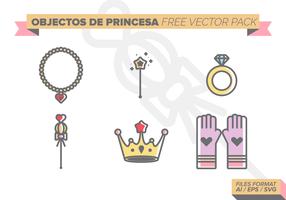 Pack de vectores gratis Castillos de Princesa