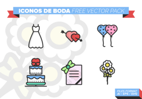 pacote de vetores grátis iconos de boda