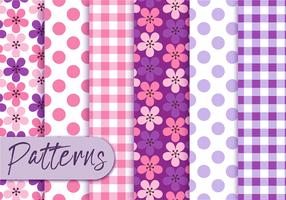Purple Retro Pattern Set