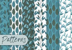 Blue Floral Pattern Set