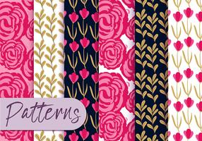 Set di pattern di rose colorate