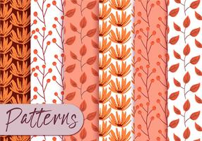 Pastel Orange Pattern Set