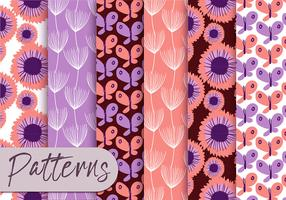 Pastel Purple Pattern Set