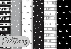 Gray And Black Pattern Set